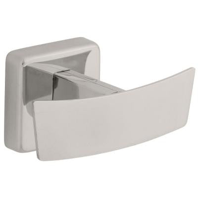 Century Double Robe Hook in Polished Stainless Steel