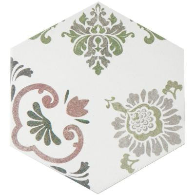 Fantasy Hex Pink 8-5/8 in. x 9-7/8 in. Porcelain Floor and Wall Tile (11.19 sq. ft. / case)