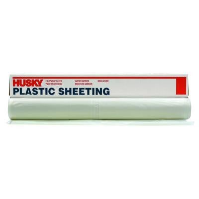 100 ft. x 12 ft. Clear 3-mil. Plastic Sheeting