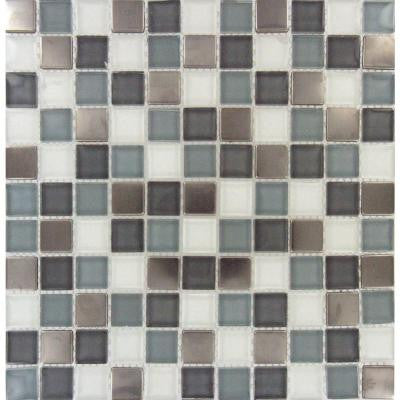 Diamond Cove 12 in. x 12 in. x 8 mm Glass Metal Mesh-Mounted Mosaic Tile