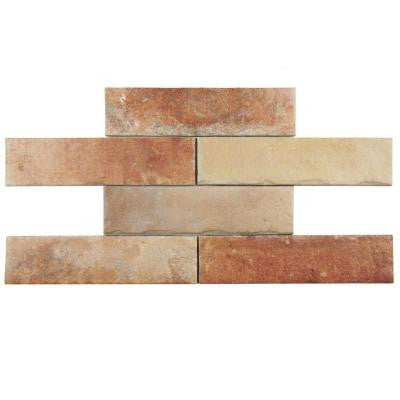 Americana Boston Brick North East 2-1/2 in. x 10 in. Porcelain Floor and Wall Tile (5.38 sq. ft. / case)