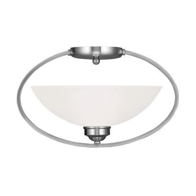 Providence 1-Light Ceiling Brushed Nickel Incandescent Semi-Flush Mount