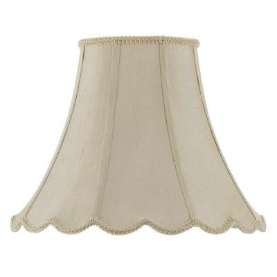 16 in. Cream Vertical Piped Scallop Bell Shade