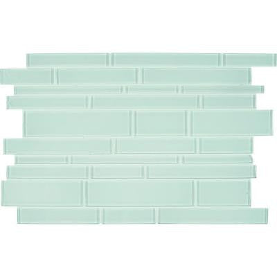 Ice Interlocking 12 in. x 18 in. x 8 mm Glass Stone Mesh-Mounted Mosaic Tile (15 sq. ft. / case)
