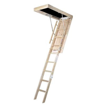 8 ft., 25 in. x 54 in. Wood Attic Ladder with 350 lb. Maximum Load Capacity