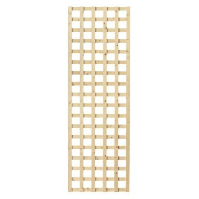 1-1/2 in. x 24 in. x 6 ft. Wood Square Lattice Screen