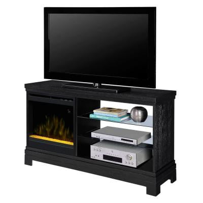 Ridley 50 in. Media Console Crystal Electric Fireplace in Black