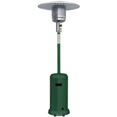 41,000 BTU Green and Stainless Steel Full Size Propane Gas Patio Heater