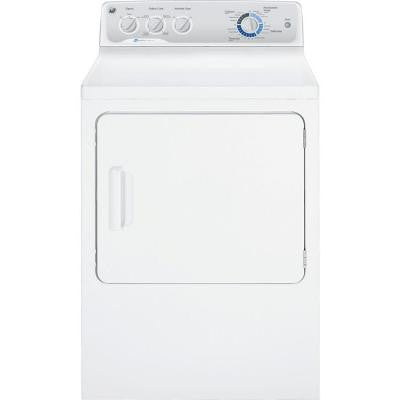 7.0 cu. ft. Capacity DuraDrum Electric Dryer with HE SensorDry in White