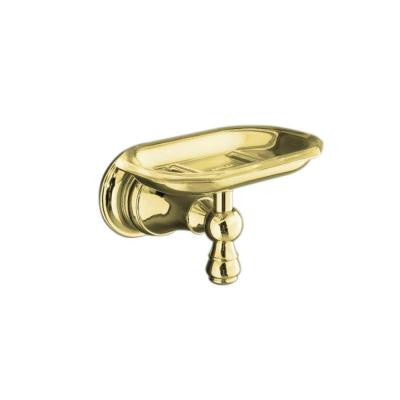 Revival Soap Dish in Vibrant Polished Brass