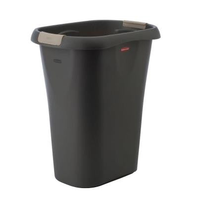 8 Gal. Black Rectangular Trash Can with LinerLock