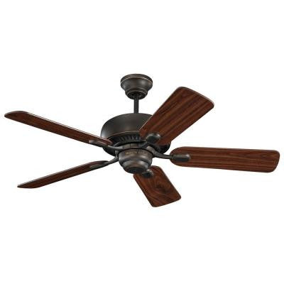 Centro II 44 in. Roman Bronze Ceiling Fan with American Walnut Blades