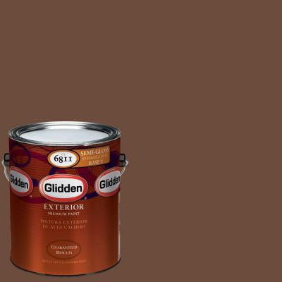 1-gal. #HDGO26D Bronze Amulet Semi-Gloss Latex Exterior Paint