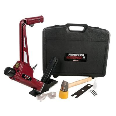 Pneumatic 16-Gauge Floor Nailer for T and L Cleat Nails