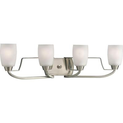 Wisten Collection 4-Light Brushed Nickel Bath Light