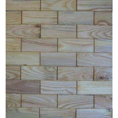 3 in. x 8 in. Prefinished Ash Wooden Wall Tile