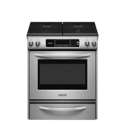 Architect Series II 30 in. 4.1 cu. ft. Slide-In Gas Range with Self-Cleaning Oven in Stainless