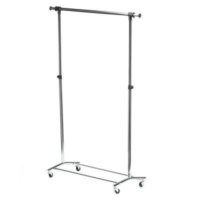 Deluxe Steel Rolling Garment Rack in Chrome