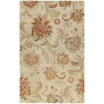 Calais Hawaiian Bloom Linen 3 ft. x 5 ft. Area Rug