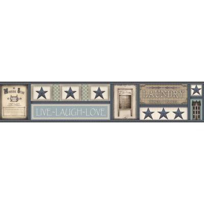 9 in. H Country Keepsakes Laundry Star Border