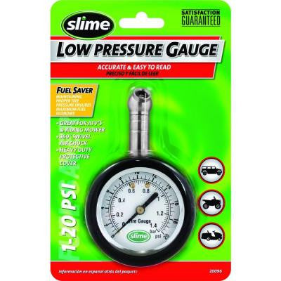 Slime 1-20 psi Low Pressure Dial Gauge, Carded
