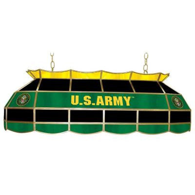 United States Army Symbol 3-Light Stained Glass Hanging Tiffany Lamp