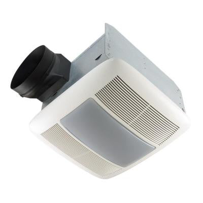 QTX Series Very Quiet 80 CFM Ceiling Exhaust Bath Fan with Light and Night Light, ENERGY STAR Qualified