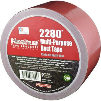 2.83 in. x 60.1 yds. 2280 Multi-Purpose Duct Tape in Burgundy