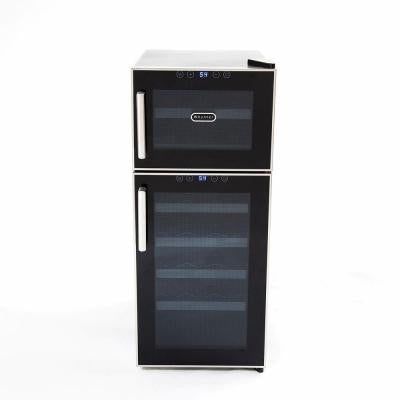Whynter 21-Bottle Dual Temperature Zone Touch Control Freestanding Wine Cooler