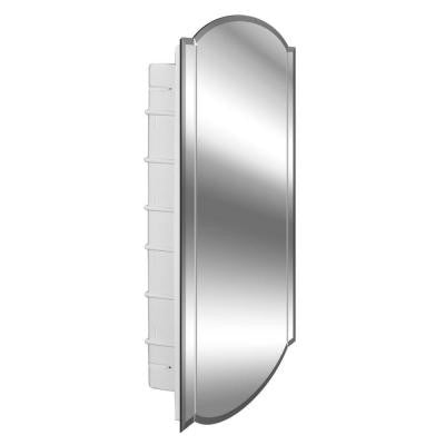 6-Shelf Betelgeuse Beveled Twin Arch Double Mirror 16 in. x 30 in. Recessed Mount Medicine Cabinet
