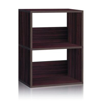 zBoard Eco 2-Shelf Duplex Bookcase and Storage Shelf in Espresso