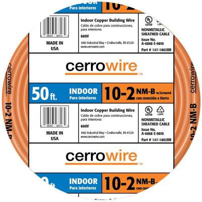50 ft. 10/2 NM-B Wire