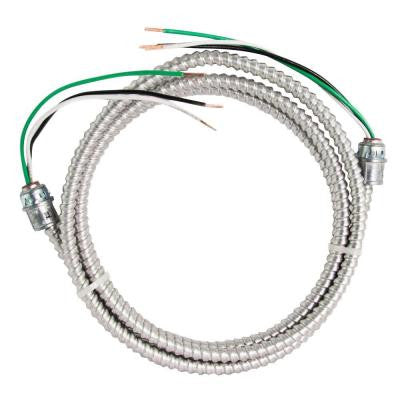10 ft. 12-2 Stranded CU MC Aluminum Whip