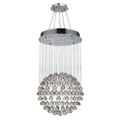Saturn Collection 7-Light Chrome Crystal Chandelier