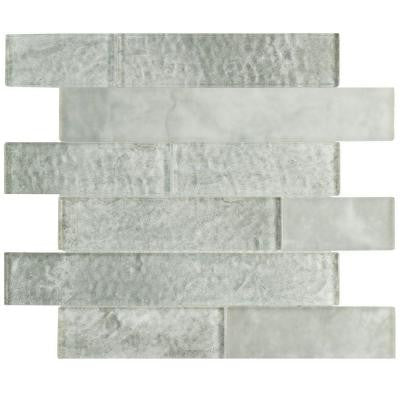 Igloo Panel Ash 11-5/8 in. x 11-3/4 in. x 9 mm Glass Mosaic Tile
