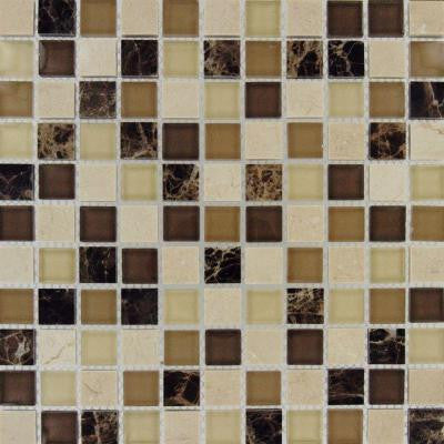 Alicante Blend 12 in. x 12 in. x 8 mm Glass Stone Mesh-Mounted Mosaic Tile