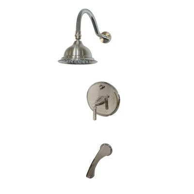 Artistry 1-Handle Pressure Balance Tub and Shower Faucet in Satin Nickel