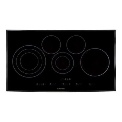 36 in. Smooth Surface Electric Cooktop in Black with 5 Elements including Flex-2-Fit Element