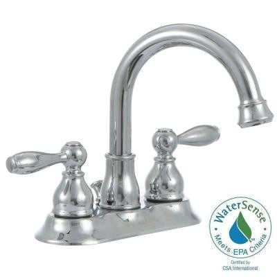 Mandouri 4 in. Centerset 2-Handle High Arc Bathroom Faucet in Chrome