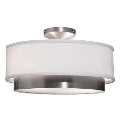 Seifert 2-Light Brushed Nickel Semi-Flush Mount Light