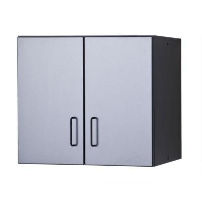 29 in. W x 27.5 in. H x 14.5 in. D Thermo-Fused Melamine Hanging Cabinet in Grey