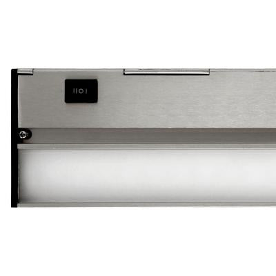 Nicor Slim 8 in. Nickel Dimmable LED Under Cabinet Light Fixture