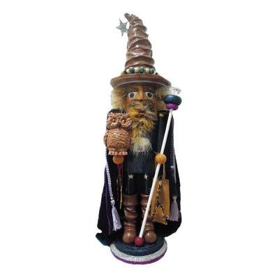 30 in. Hollywood Wizard with Owl Nutcracker