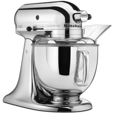 Custom Metallic 5 Qt. 325-Watt Tilt-Back Head Stand Mixer in Chrome