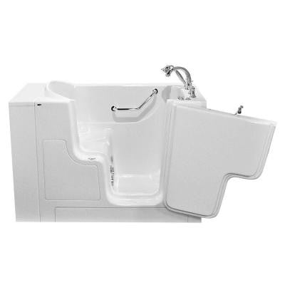OOD Series 52 in. x 30 in. Walk-In Whirlpool Tub with Right Outward Opening Door in White