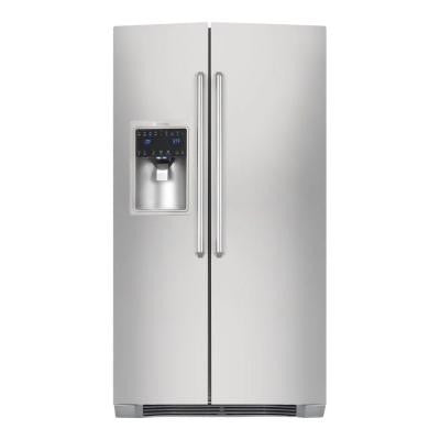 IQ-Touch 22.16 cu. ft. Side by Side Refrigerator in Stainless Steel, Counter Depth
