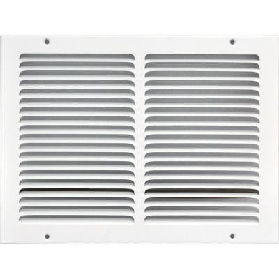 14 in. x 10 in. Return Air Vent Grille, White with Fixed Blades