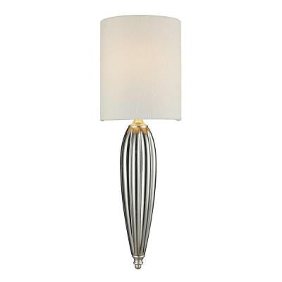 Martique 1-Light Chrome and Silver Leaf Ceiling Sconce
