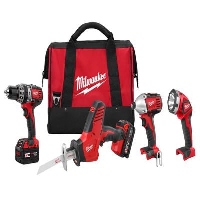 Reconditioned M18 18-Volt Lithium-Ion Cordless Hammer Drill/Hackzall/Impact/Light Combo Kit (4-Tool)
