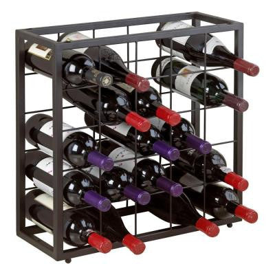 Steel 25-Bottle Stackable Grid in Black